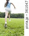 ランニング 若い女性 ジョギングの写真 361047