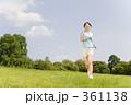 ランニング 若い女性 ジョギングの写真 361138