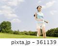 ランニング 若い女性 ジョギングの写真 361139
