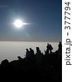 富士山頂のシルエット 377794
