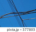 電線と青空 377803