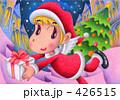クリスマスプレゼント サンタ サンタクロースのイラスト 426515