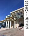 モンゴル 国会議事堂 チンギスハーン像 429419