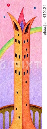 「塔」のイラスト.1 430124