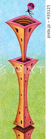 「塔」のイラスト.2 430125