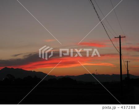 夕陽と電線 437288