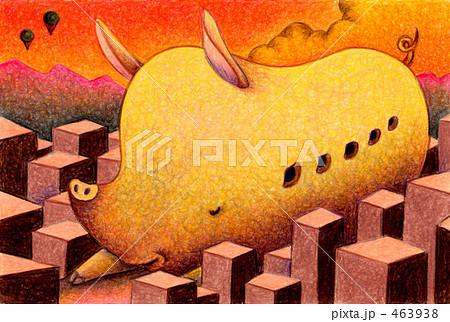 都市の巨大豚 463938