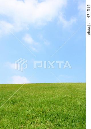 自然素材 空と緑の丘 5 474516
