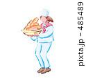 パン屋 パン屋さん パン職人のイラスト 485489