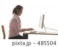 ビジネスウーマン ビジネスシーン デスクワークの写真 485504