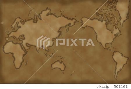 世界地図、古地図風 501161
