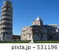歴史的建造物 斜塔 ピサの斜塔の写真 531196