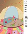 未来都市 エイリアン 空想のイラスト 535120
