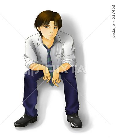 男子高校生 制服 高校生のイラスト素材 537463 Pixta