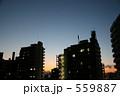 都会の夕焼け 559887