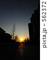 道路 一本道 車道の写真 562372