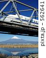 線路橋 逆さ富士 ひかりの写真 562641