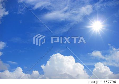 太陽と入道雲 567796