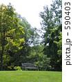 緑の中のベンチ(シカゴの植物園) 590403