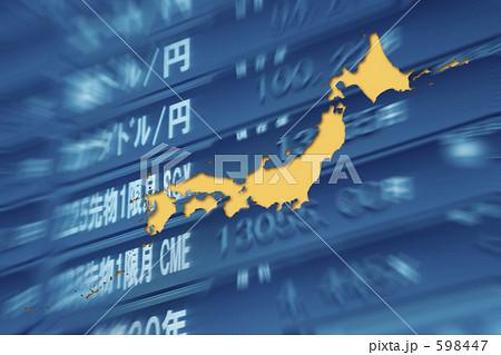 ダウ掲示板と日本地図 598447