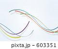 ラインアート リボン 帯のイラスト 603351