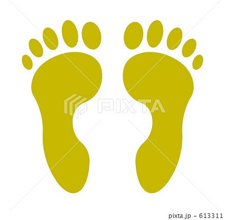足の裏 テンプレート 613311