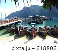 漁港 並ぶ 桟橋の写真 618806