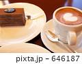 カフェラテとチョコケーキ 646187