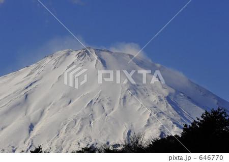 富士山 白煙 646770