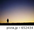 夕暮れのカメラマン 652434