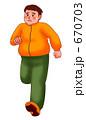 ランニング ジョギング ダイエットのイラスト 670703