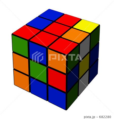 ルービックキューブ おもちゃ 箱のイラスト素材 682280 Pixta