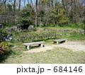鶴見緑地のベンチ(石製) 684146