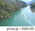 花筏 花いかだ 神流川の写真 686160