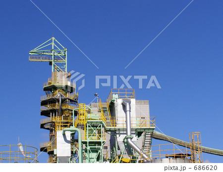 青空と工場 686620