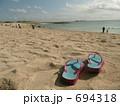 ビーチサンダル 海水浴場 ビーチの写真 694318