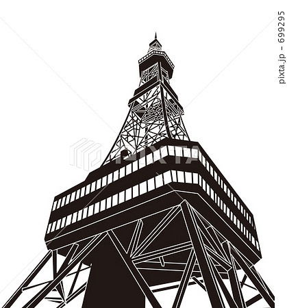 テレビ塔イラストのイラスト素材 699295 Pixta