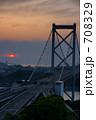 関門海峡 関門大橋 高速道路の写真 708329