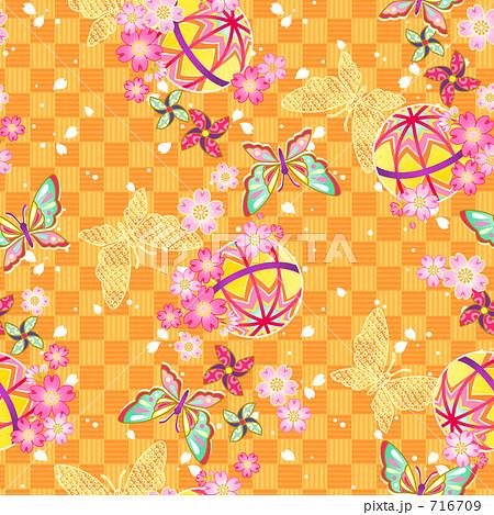 壁紙 蝶 和柄 包装紙の写真素材 ... : 千代紙 印刷 : 印刷