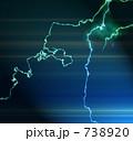 稲光 閃光 雷のイラスト 738920