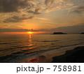 夕焼け 七里ヶ浜 夕方の写真 758981