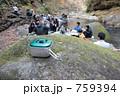 ハイキングで昼食をとる人々 759394