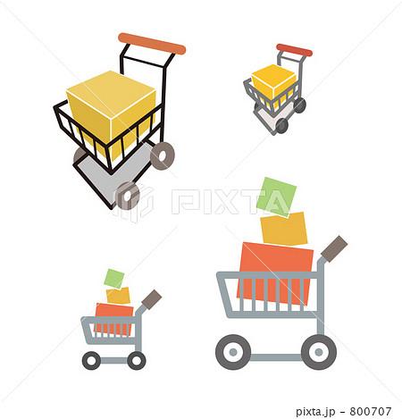 ショッピングカートのイラスト素材 800707 Pixta