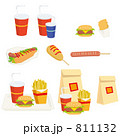 軽食 ジャンクフード ファーストフードのイラスト 811132