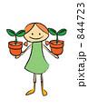 植物を育てる女の子 844723