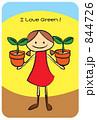 植物を育てる女の子 844726