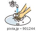 洗い流す ウイルス対策 インフルエンザ対策のイラスト 901244