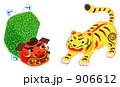 02獅子舞とトラ張子 906612