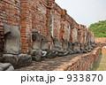 破壊されたアユタヤの仏像 933870