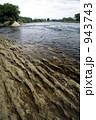 泥岩層 川岸 水辺の写真 943743